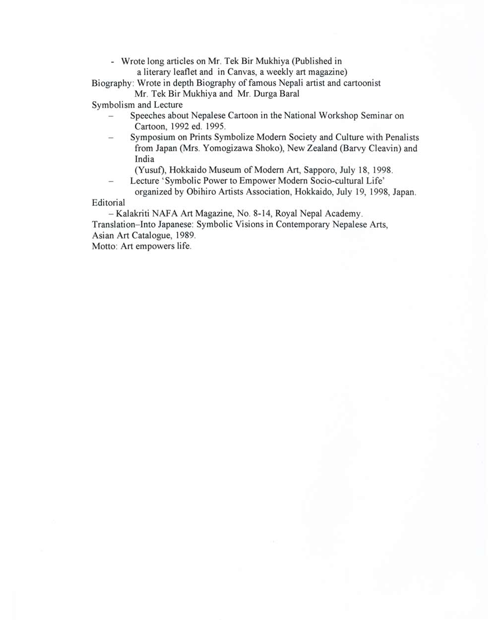 Ram Kumar Panday's Resume, pg 4